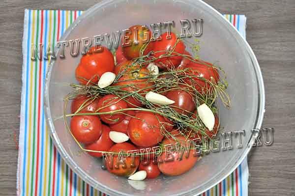 помидорки с пряностями