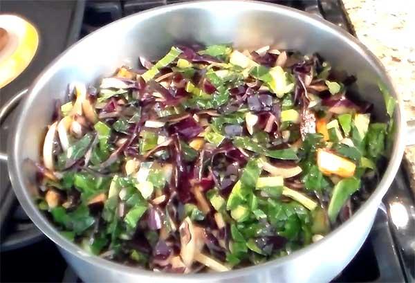 первое тушение овощей