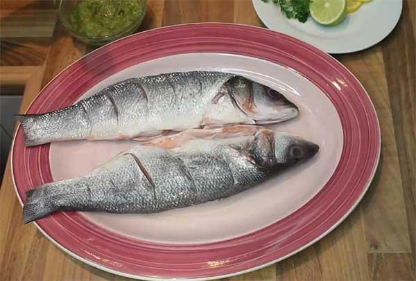 подготовленная морская рыба