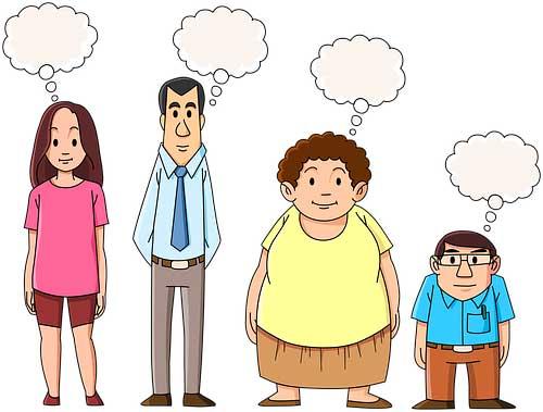 люди разного телосложения