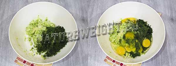 добавление яиц и других ингредиентов