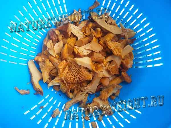 грибы на дуршлаге