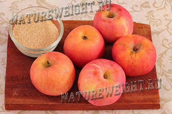 ингредиенты для создания на зиму яблочной начинки