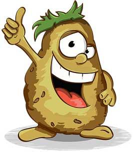 карикатура картошки