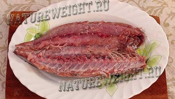 разделка тушки рыбки