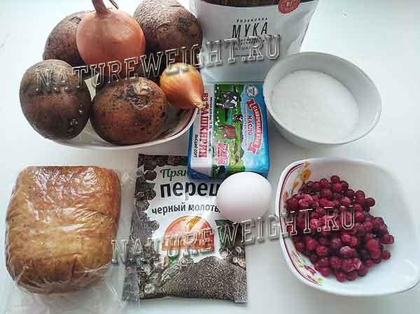 ингредиенты для приготовления кропкакора