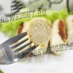 домашняя куриная сосиска - вид в разрезе