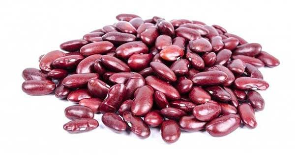 россыпь бобов красной фасоли