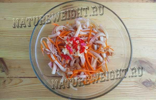 добавление острых ингредиентов и горячего масла