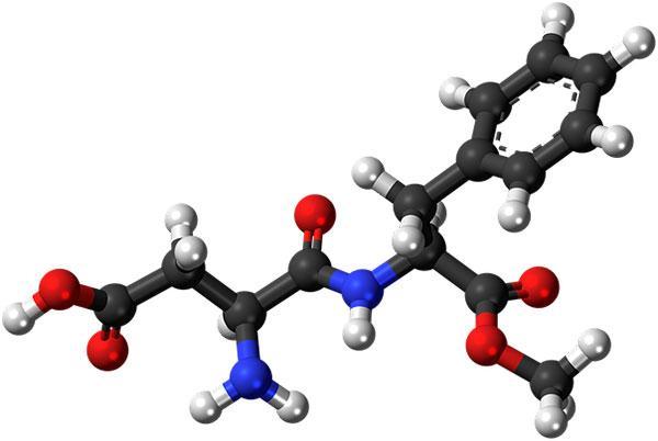 3d модель молекулы аспартама